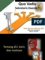 Maklah Calon Sekda Tabacina