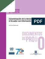 CEPAL-Caracterización de La Demanda Laboral en El Ecuador Con Información Administrativa