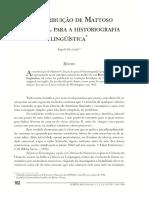 Angela Leão A CONTRIBUIÇÃO DE MATTOSO CÂMARA PARA A HISTORIOGRAFIA LINGUÍSTICA.pdf