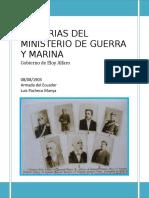 Memoria Ministerio Guerra Marina