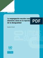CEPAL-La Segregación Escolar Como Un Elemento Clave en La Reproducción de La Desigualdad