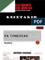 Recetario Bar