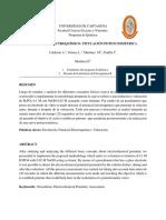 Informe potencial electroquimico