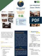 Three Fold Brochure Bali Intl Summer School 2013