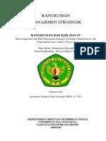 Hasil Rangkuman Dari Buku Manajemen Strategis Formulasi, Implementasi, Dan Pengendalian Karya John a. Pearce II