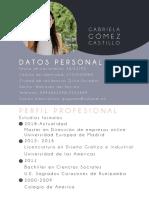 Hoja de vida Gabriela