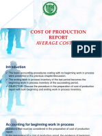 9 Cost of Production Report AVERAGE