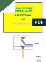Pressure Relief Valve Use