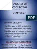 2. Branches of Accounting