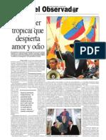 Rafael Correa, Otro líder tropical que despierta amor y odio