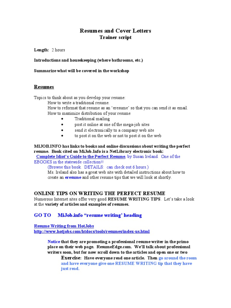 Resumes And Cover Letters Resume Microsoft Word