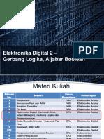 Elektronika Digital Gerbang Logika Aljabar Boolean