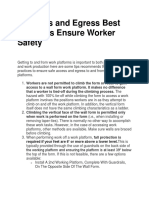 5 Access and Egress Best Practices Ensure Worker Safety