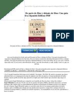 De Parte de Dios y Delante de Dios Una Gu Iacute a de Predicaci Oacute n Expositiva Spanish Edition