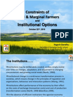 Constraints of Small and Maginal Farmers and Institutional Options