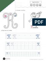 Apprendre a Ecrire La Lettre k Majuscule Rht5
