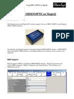MagicQ MIDI/SMPTE