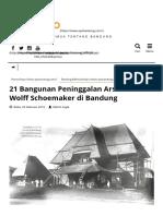 21 Bangunan Peninggalan Arsitek CP Wolff Schoemaker Di Bandung