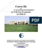 16EC3203 Control Systems Engineering