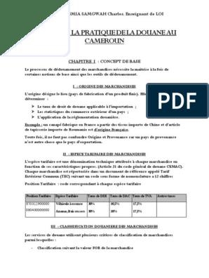 DOUANIER TÉLÉCHARGER EX1 DOCUMENT
