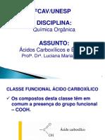 Acidos Carboxilicos e Esteres 2013