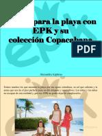 Alexandra Azpúrua - Vístete Para La Playa Con EPK y Su ColecciónCopacabana
