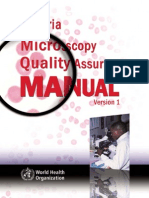 Malaria Microscopy QA Manual