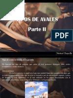 Nestor Chayelle - Tipos de Avales, Parte II