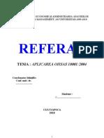 referat aplicarea OHSAS 18001
