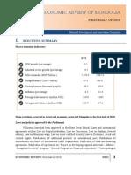 2010 1st Half Mongolia Economic Review