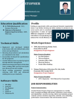 Mathew Christopher New CV