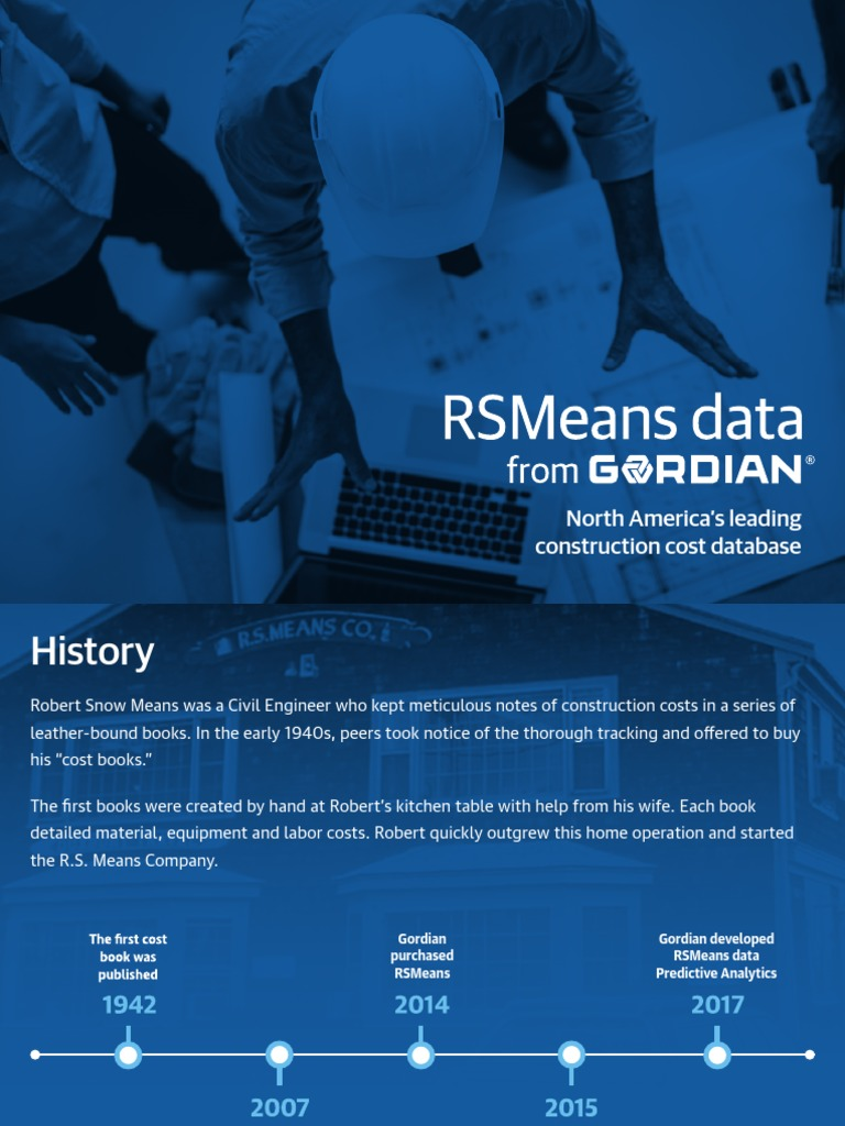 Rs-means | Databases | Life Cycle Assessment