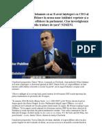 Vâlcov Acuză Că Iohannis Că Ar Fi Avut Înțelegeri Cu CEO Al OMV Pe Legea Offshore În Urma Unor Întâlniri Repetate Şi a Retrimiterii Legii Offshore În Parlament