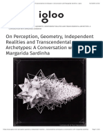 On Perception, Geometry, Independent Realities and Transcendental Archetypes- A Conversation With Margarida Sardinha – Igloo