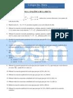 Ejercicios complementarios 4º Matemáticas - Tema 6 - Recta