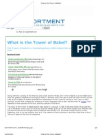 What is the Tower of Babel