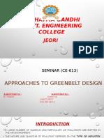 Approaches to green belt design