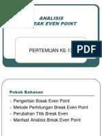 Analisis Break Even Point-1