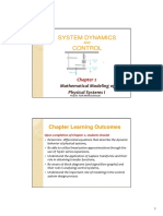 System Dynamics and Control Chapter 2 System Modeling I