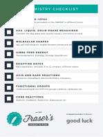 Chem Checklist