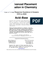 Acid-Base FRQ 1970-2009 Wth Ans