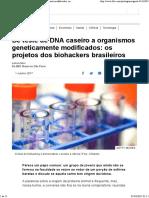 Biologia e Hacking Biohacking