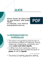 Zaman of Chapter 1 - Introduction of Hydraulics
