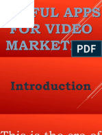 Useful Smartphone Apps for Video Marketing - Alvin Mapas - Valuable Video Visionary