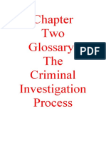 Chapter Two Glossary - The Criminal Investigation Process