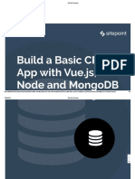 Build a Basic Crud App With Vue Js Node and Mongodb