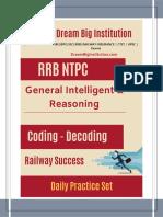 DreamBigInstitution.com RRB NTPC Coding- Decoding