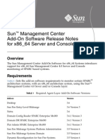 SunMC4 Add-On for x86 as Server & Console Release Notes