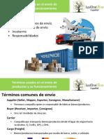 Términos usados en el envío de productos y su funcionamiento