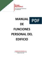 Manual de Funciones de Los Porteros 2019